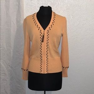 St. John Sport Zip Front Cardigan Sweater S